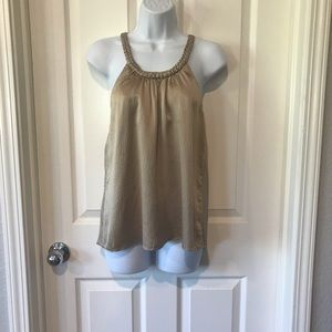 7 for All Mankind Silk Champagne Top sz XS